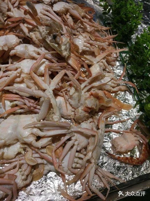 韩厨缘素火锅烤肉自助美食汇蟹脚跟皮皮虾一样,我看到的时候心里挺