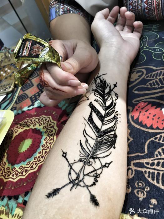 绘玩吧·印度海娜手绘纹身(钟楼骡马市店)图片 - 第2张