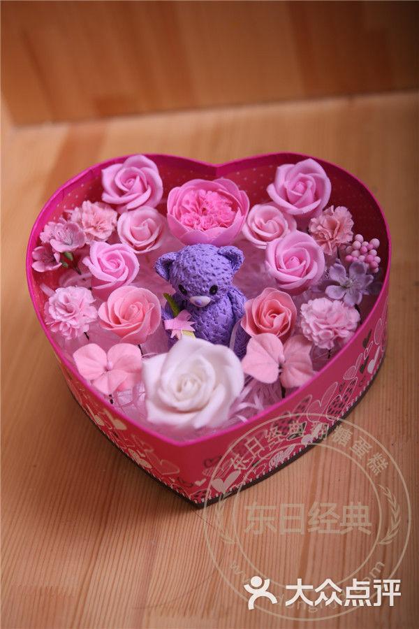 雪瑞丝创意蛋糕可食用的永生花盒送女友佳品