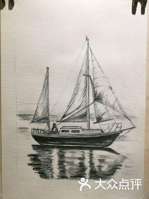 船 帆船 素描 525_700 竖版 竖屏