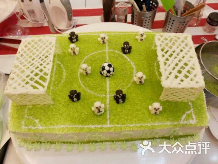 足球场_甜娜凯克diy蛋糕蛋糕坊图片