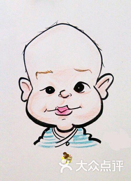 现场手绘彩色肖像漫画