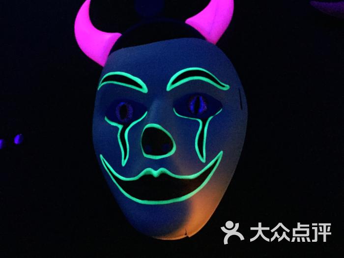 请别首刀我全手绘荧光主题狼人杀馆-面具图片-上海