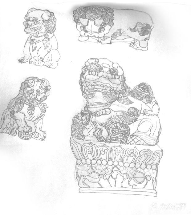 石狮简笔画步骤