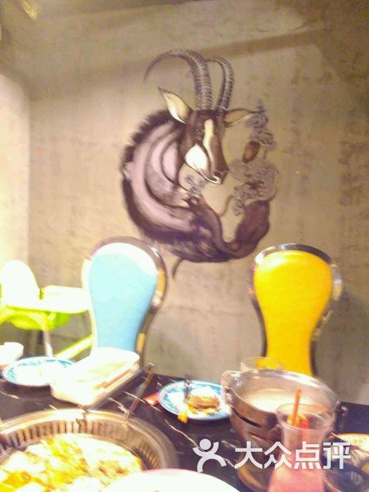 梅园小站海鲜自助烧烤-羊羊墙绘图片-上海美食-大众