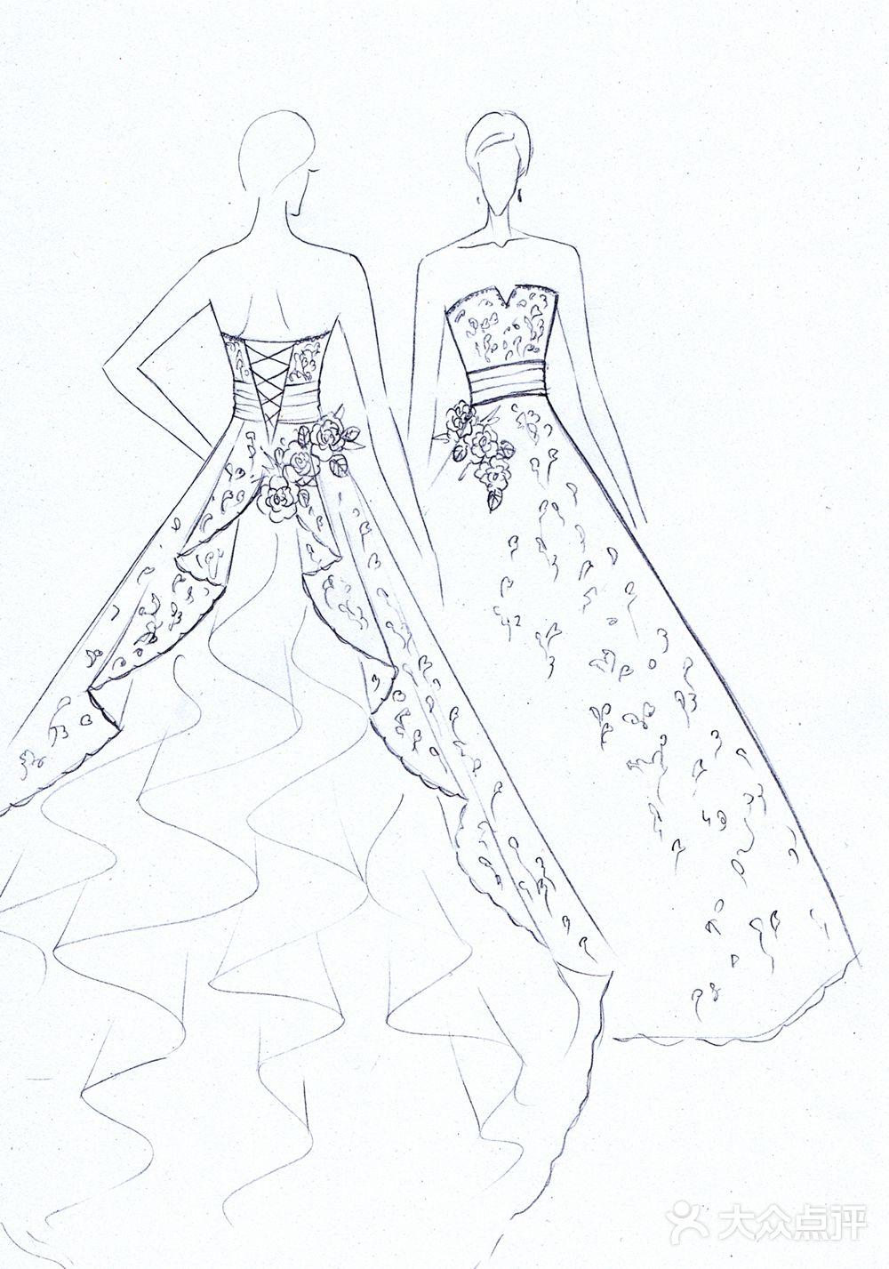 其他 0元试纱:有 赠送:设计师亲绘精画手稿 专业影棚婚纱实物大片一套