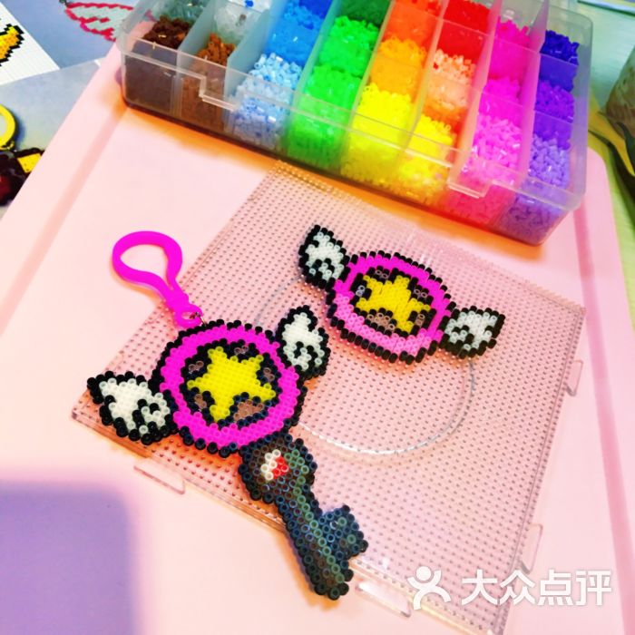 奶油猫手工坊diy拼豆手机壳-成品图片-上海休闲娱乐