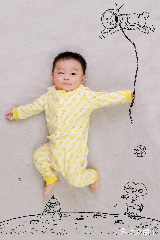 创意手绘宝宝照