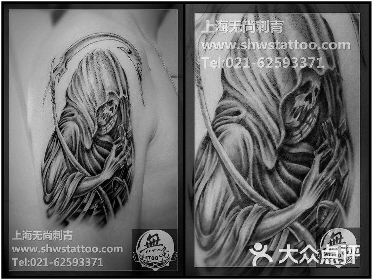 无尚刺青纹身工作室手稿:独特的扑克纹身图案设计