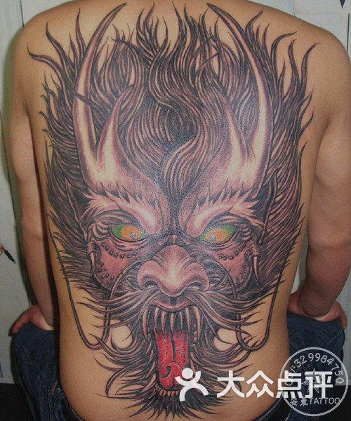 泰州安东刺青-后背龙头纹身图片-泰州丽人-大众点评