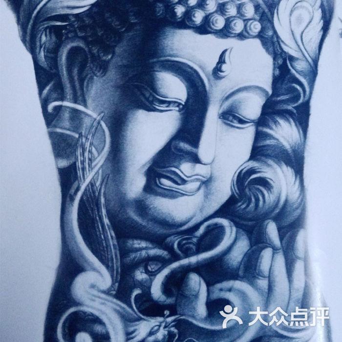 满背佛像纹身手稿