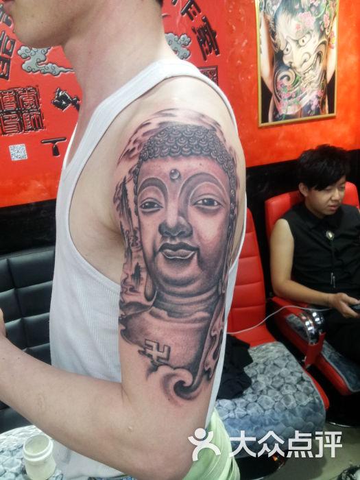 酷刺青艺术工作室纹身佛图片 - 第39张