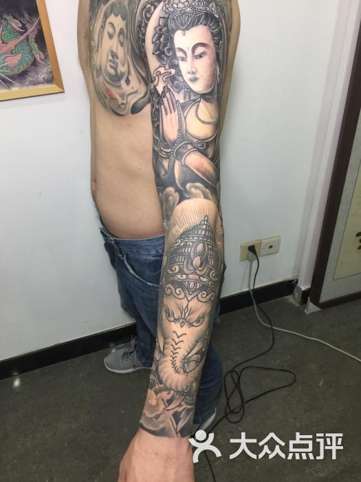 花臂纹身手稿观音纹身