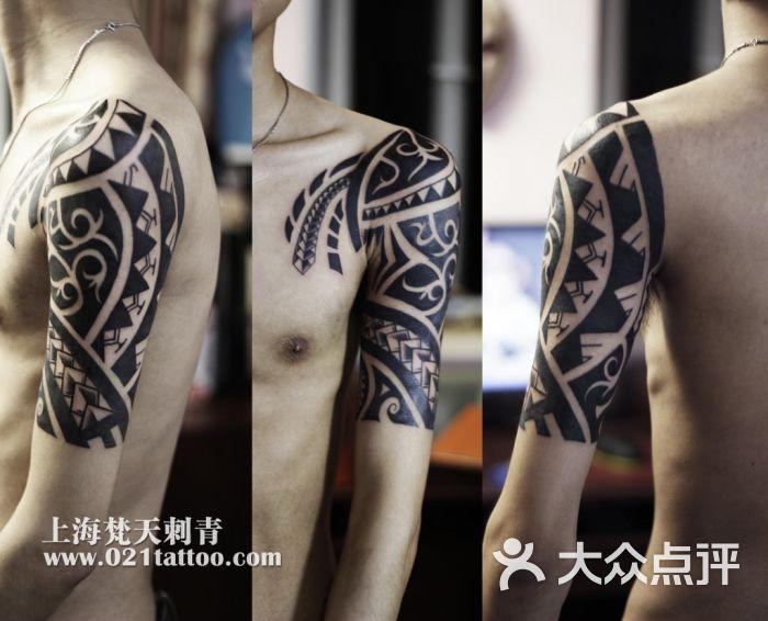 白鹤纹身大臂图片