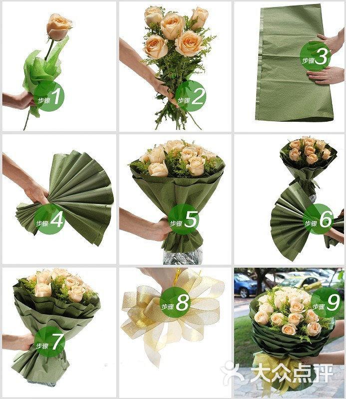 花美家鲜花(岸芷汀兰花艺工作室)小清新花束简单包装图片 - 第5张图片
