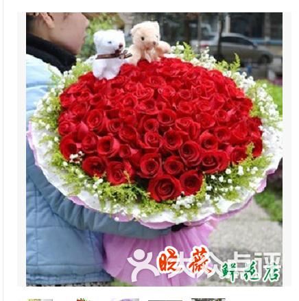 晓薇鲜花 99朵红玫瑰花束图片 郑州购物