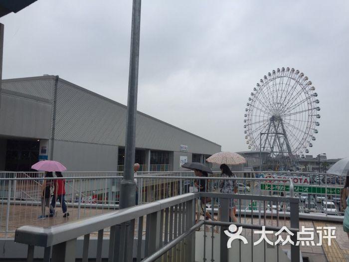 大阪关西空港奥特莱斯-地铁出站后 看到大转轮