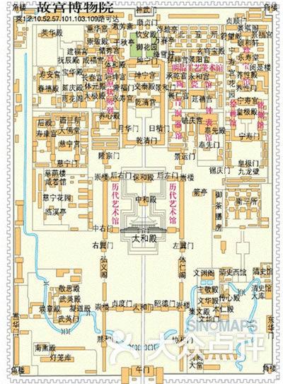 紫禁城图片平面图