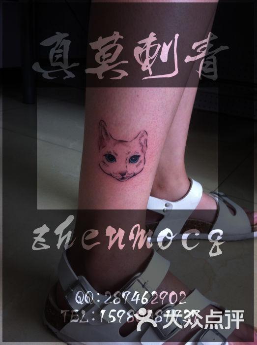 宁德专业女纹身师—真莫刺青—脚踝猫头纹身