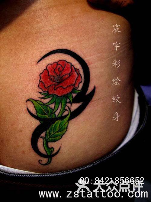 赞一下 玫瑰花纹身