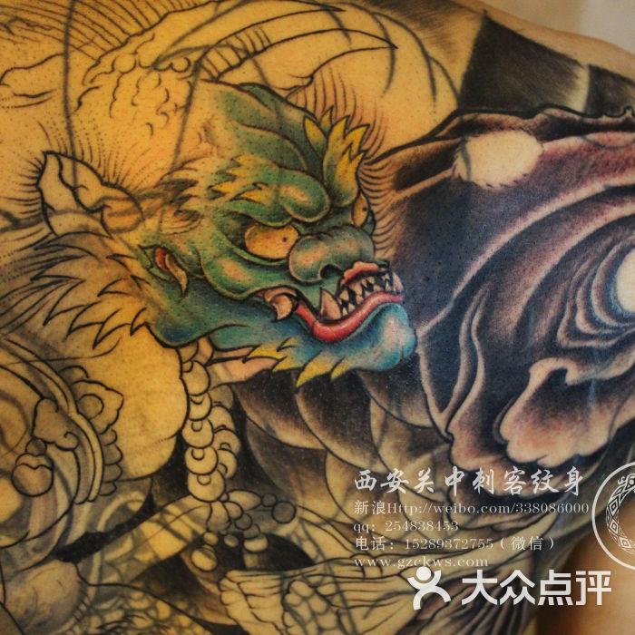 关中刺客纹身满背赵云纹身 西安纹身店图片 柳州纹身 大众点评网图片