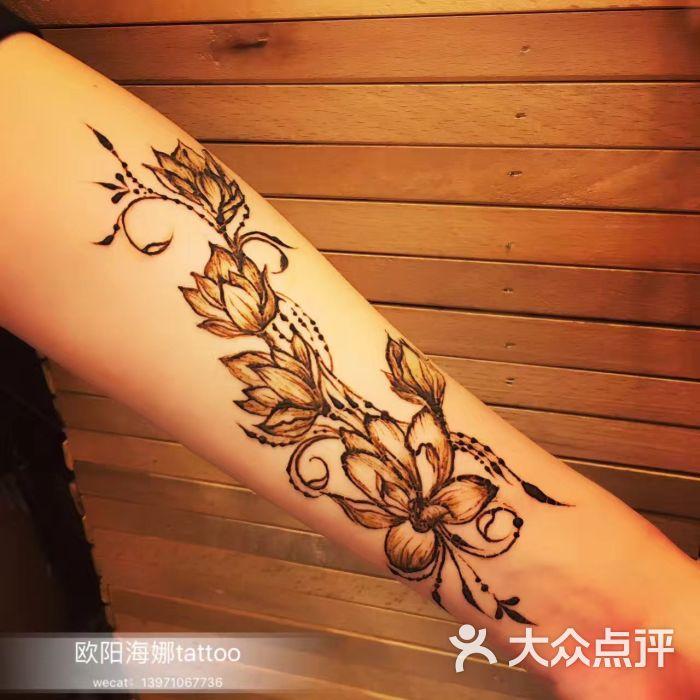 印度海娜手绘纹身图片 - 第2张