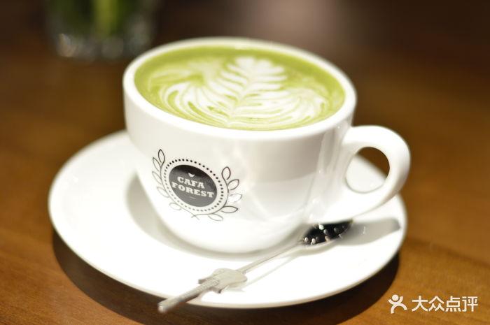 咖啡木木抹茶拿铁图片 - 第0张