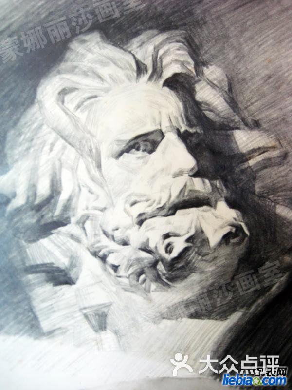 蒙娜丽莎画室素描石膏像 马赛图片-null绘画-大众点评