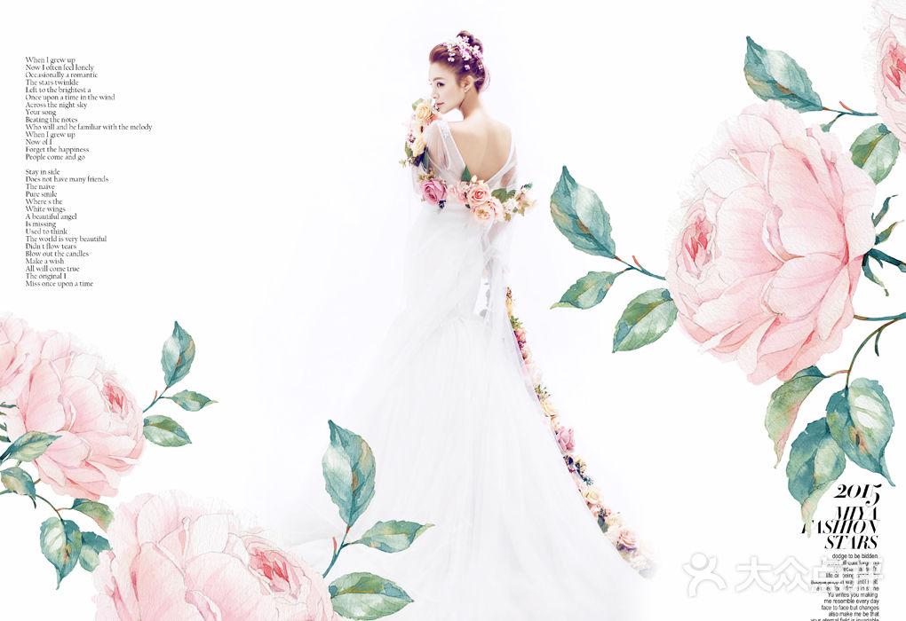 工作室 花舍视觉婚纱摄影  服装 造型:5套 服装说明:新娘: 拍摄当天