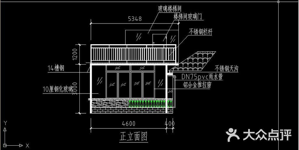 别墅阳光房cad设计图