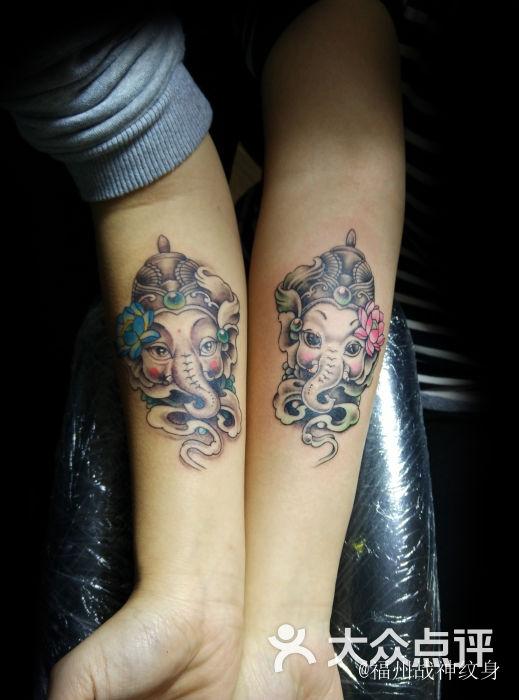 象神纹身情侣 福州纹身 福州战神纹身图片