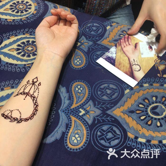 绘玩吧.印度海娜手绘纹身
