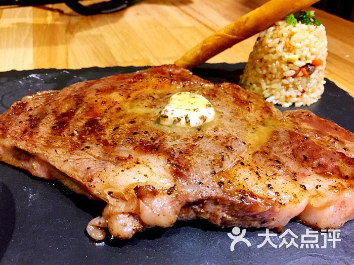 鱻-眼肉牛排搭配黑胡椒汁图片-上海美食-大众点评网