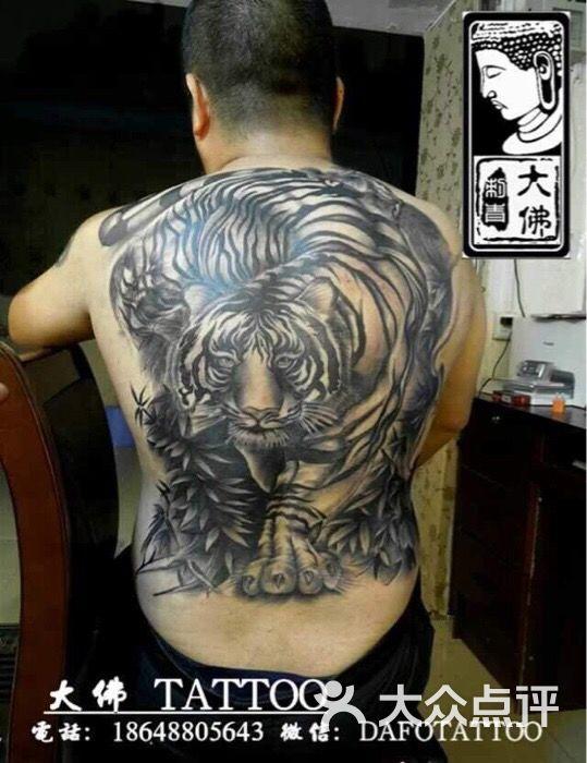云鹤刺青满背老虎纹身,传统老虎纹身图片 - 第273张