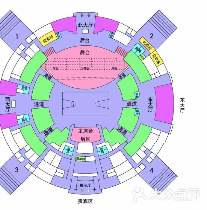 上海体育馆-座位表-其他-座位表图片-上海运动健身