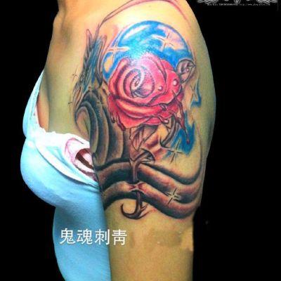 半臂纹身图-大众点评纹身图案大全