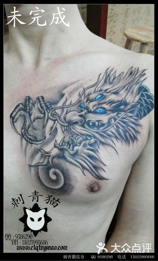 null过肩龙纹身,广西北海纹身刺青猫纹身图片-北京图片