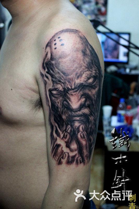 纹身汉阳纹身江汉路步行街纹身铁木针刺青纹身店手臂和尚纹身图案# (1