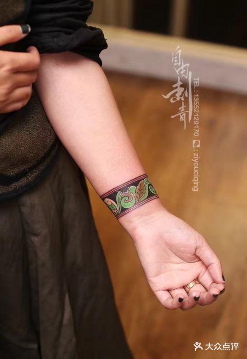 女孩手环小纹身