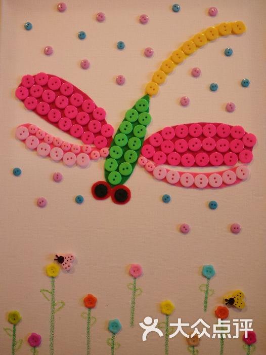 木梵diy手工软陶粘土屋-蜻蜓纽扣画图片-上海休闲