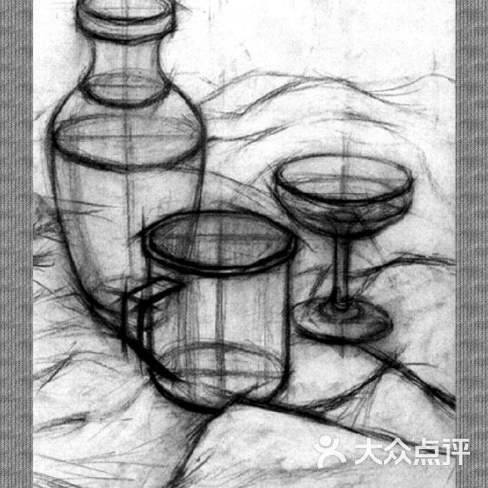 番石榴画室石膏几何体写生步骤图片-北京绘画-大众