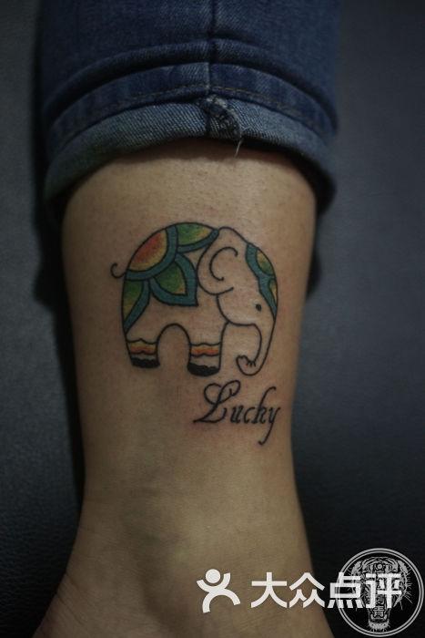 惊蛰脚腕小象纹身清新纹身