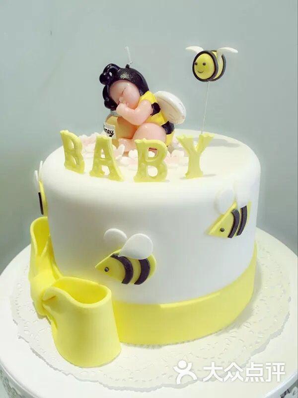 amore 爱茉莉烘焙工作室宝宝翻糖蛋糕定制6寸图片 - 第6张