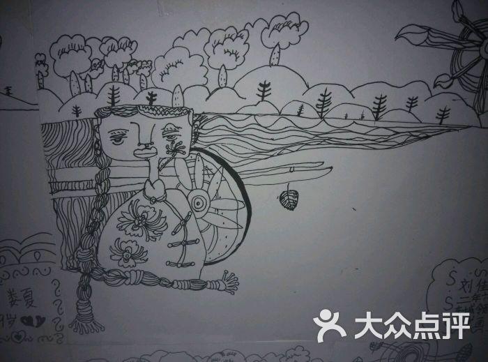 大庆风景手绘画