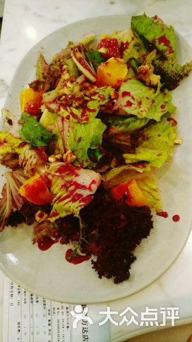 蓝莓酱核桃杂菜沙拉