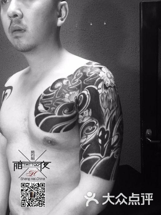 上海暗夜纹身,花臂艺妓纹身