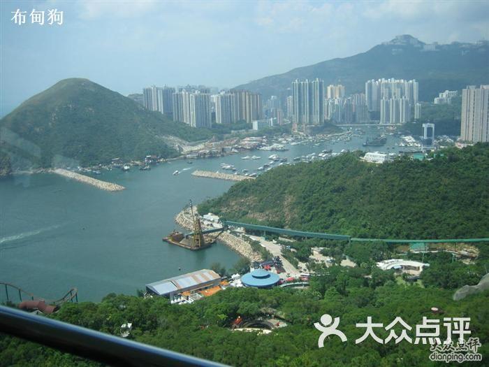 公园 山顶缆车高空俯视图图片 香港休闲娱乐