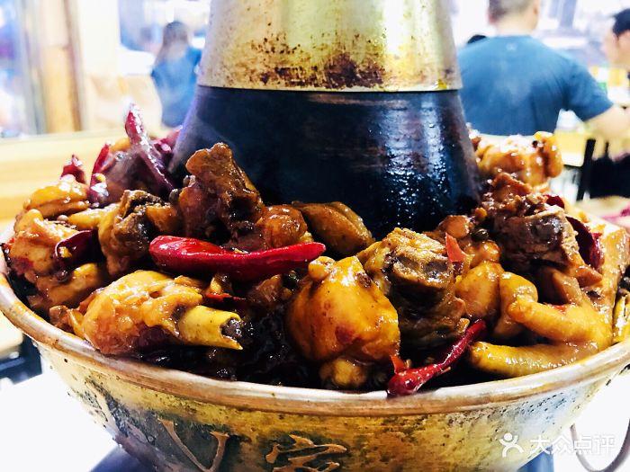 铜锅上吃鸡火锅鸡图片 - 第11张