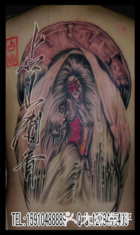 北京占山刺青 欧美纹身作品 天使纹身
