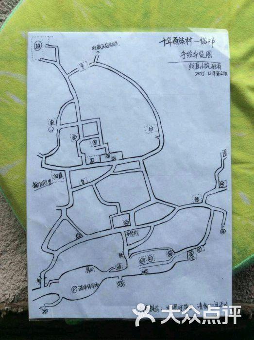 诺邓村手绘导览图